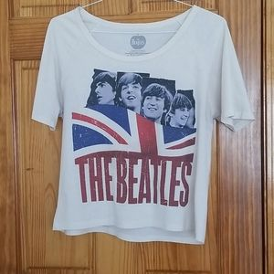 Offical The Beatles Crop T-Shirt